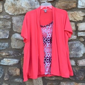 White Stag blouse, coral, XXL